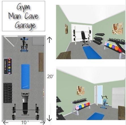 Man Cave Garage Home Gym