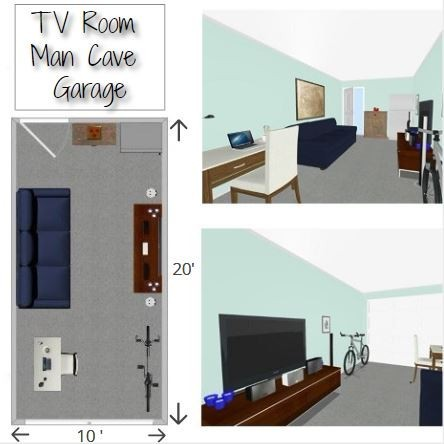 Man Cave Garage Floor Plans Small Garage My Man Space