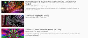 music visualization youtube