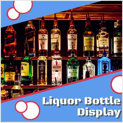 LED Lit liquor bottle display shelf