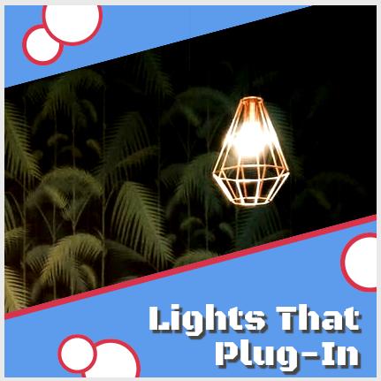 Plug-in wall lights