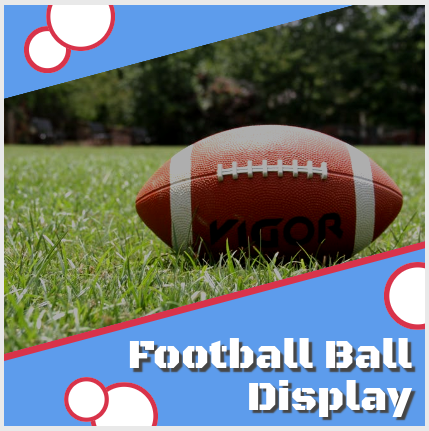 Football ball display for man cave
